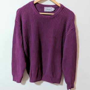 Vintage Forenza Cable Knit Sweater 80's